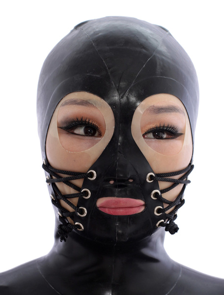 Milanoo Disfraz Halloween Negro abierto los ojos campanas latex vendaje  Halloween