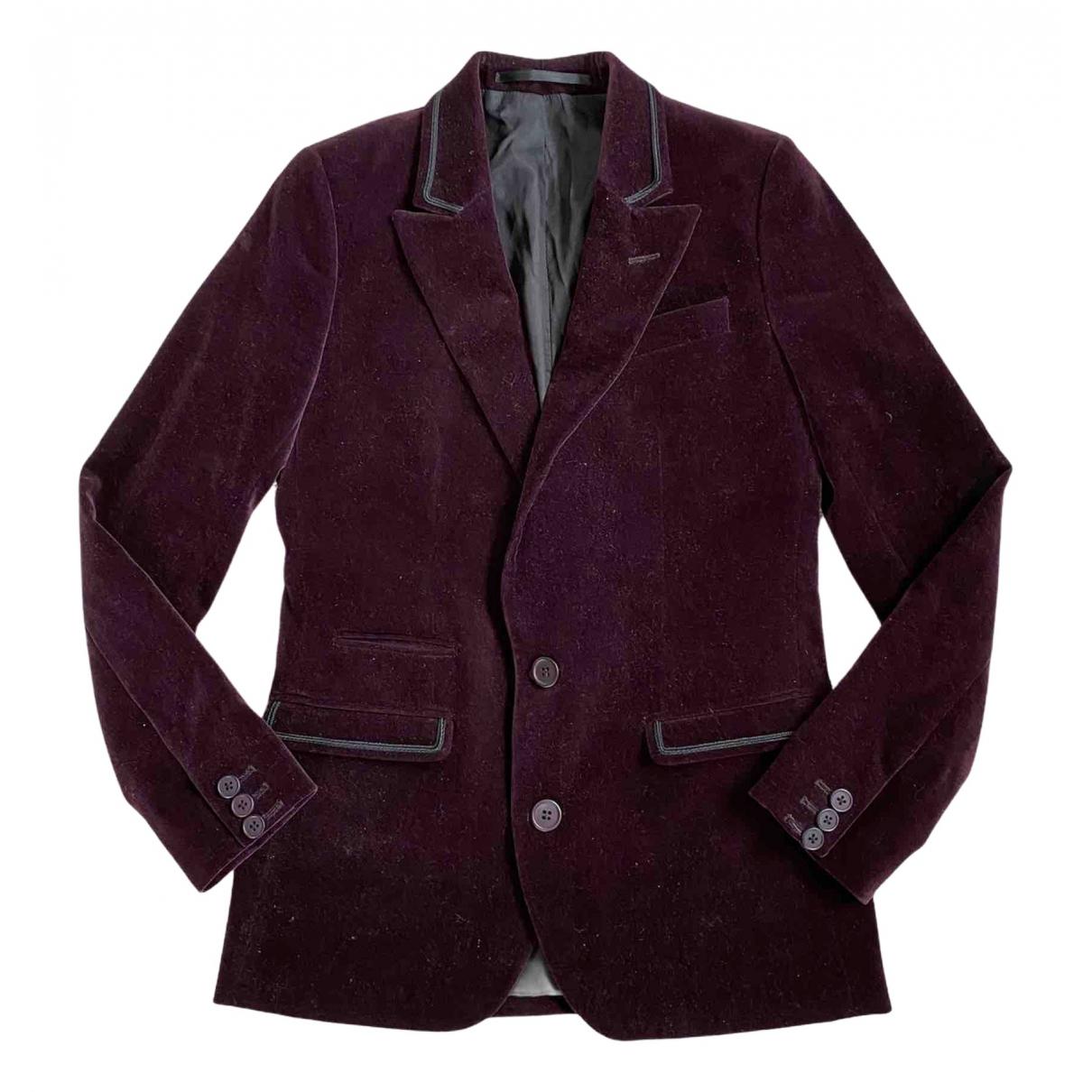 The Kooples N Burgundy Velvet jacket for Women 36 FR