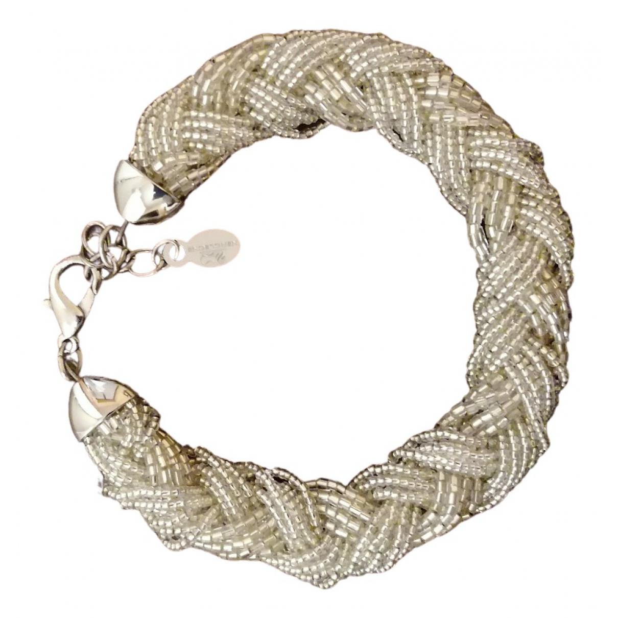 - Bracelet   pour femme en verre - blanc