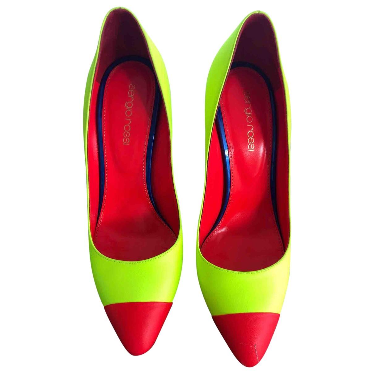 Sergio Rossi - Escarpins   pour femme en cuir - multicolore