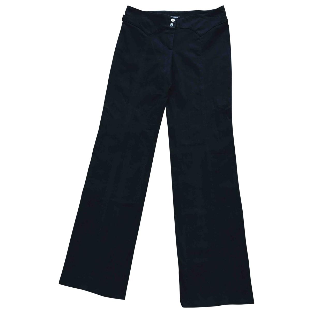 Versace Jeans \N Black Cotton Jeans for Women 38 FR