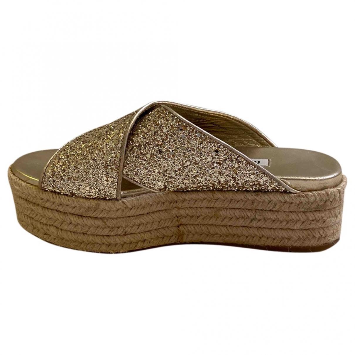 Miu Miu \N Gold Glitter Sandals for Women 36.5 EU