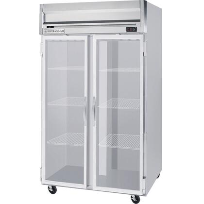 HFPS2-1G Horizon Series Two Section Glass Door Reach-In Freezer  49 cu.ft. Capacity  Stainless Steel Exterior and