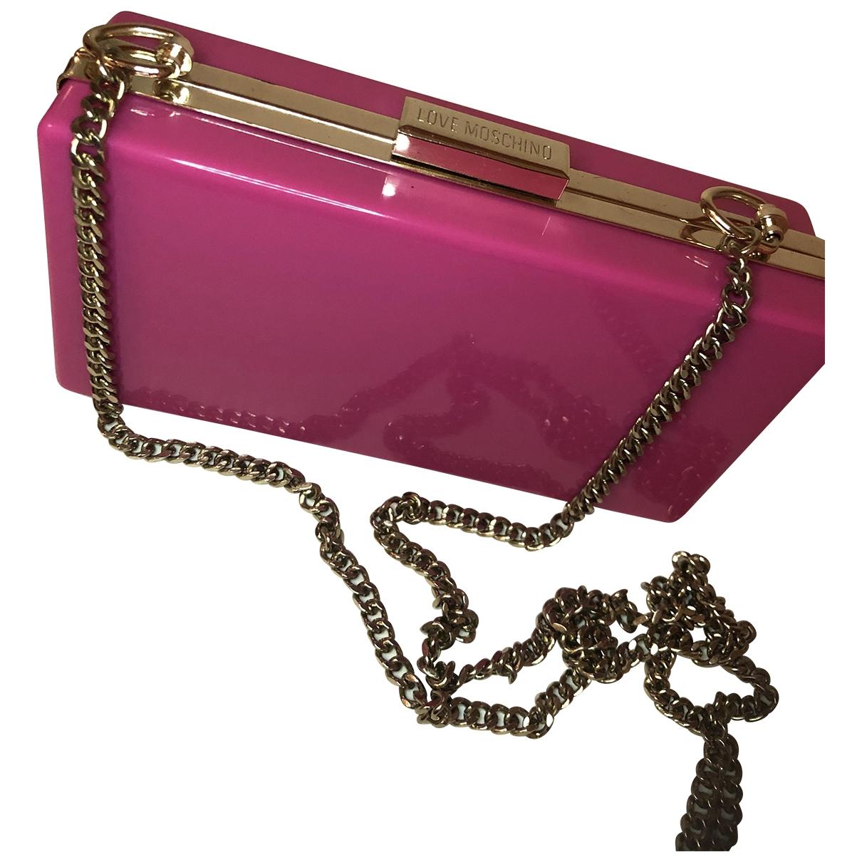 Bolsos clutch en Plastico Rosa Moschino Love