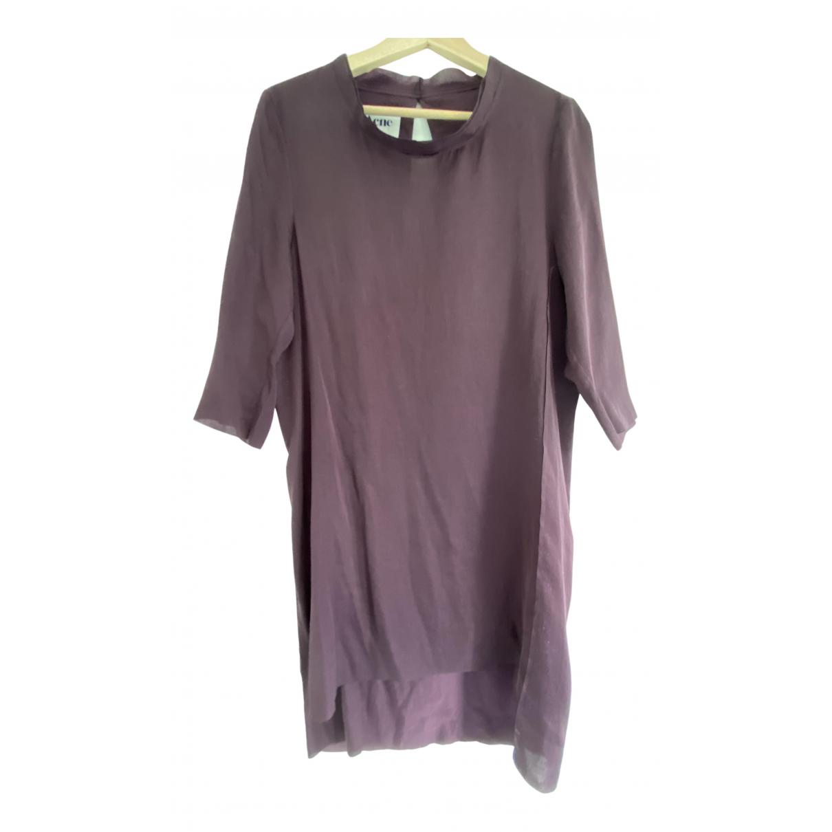 Acne Studios \N Kleid in  Bordeauxrot Polyester
