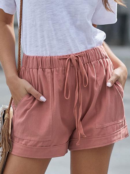 Milanoo Women\'s Shorts Drawstring Casual Loose Short Pants