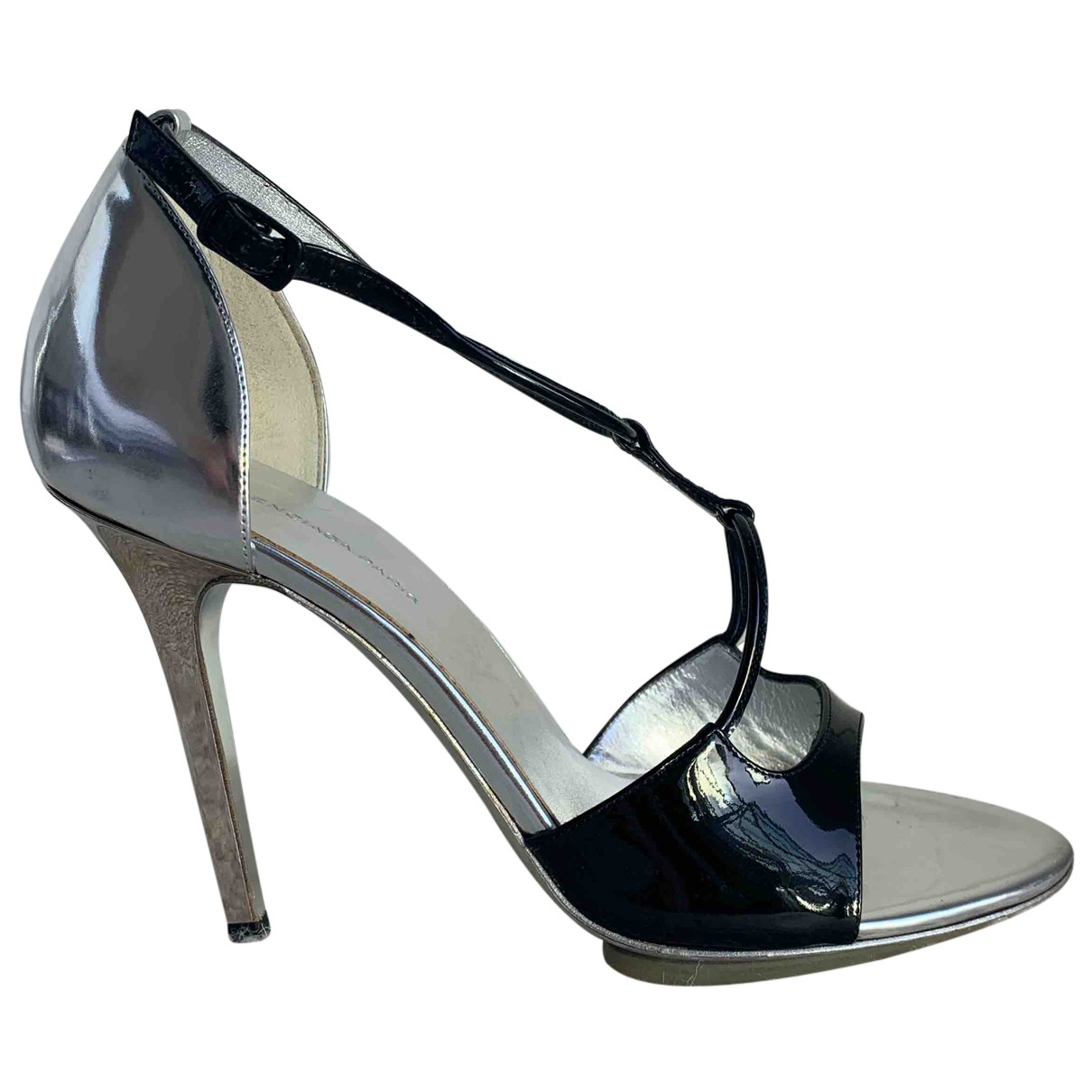 Balenciaga N Black Patent leather Sandals for Women 38.5 EU