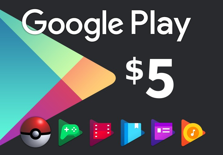 Google Play $5 US Gift Card