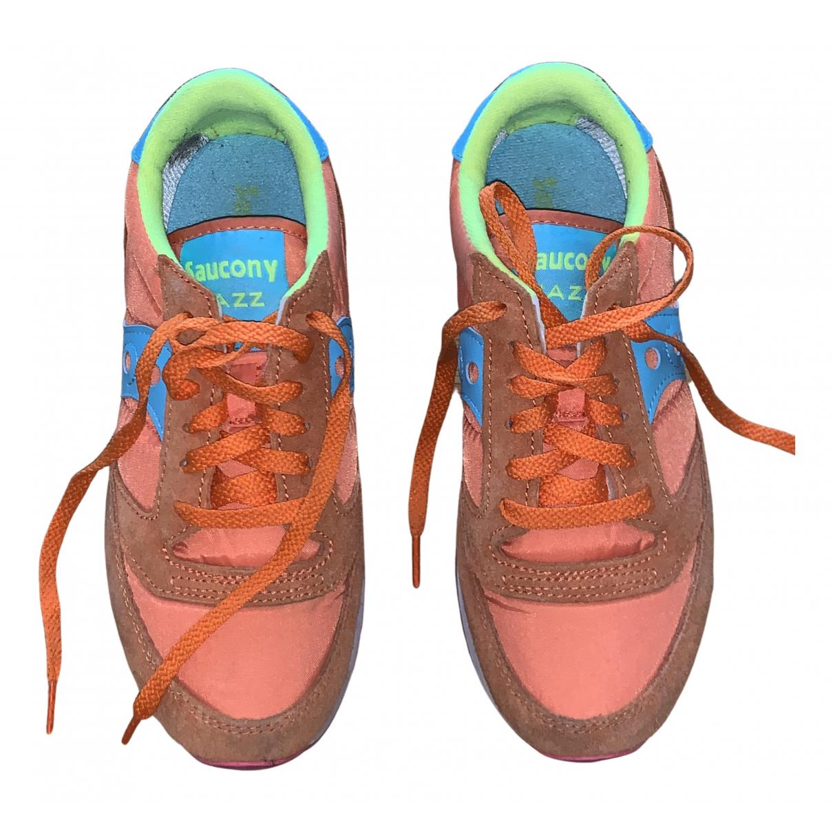 Saucony - Baskets   pour femme en toile - orange