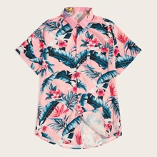Guys Tropical & Floral Print Shirt