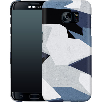 Samsung Galaxy S7 Edge Smartphone Huelle - Geometric Camo Blue von caseable Designs