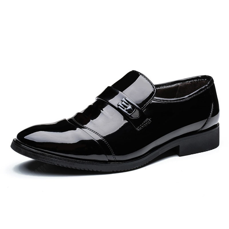 Ericdress Plain Slip-On Round Toe Block Heel Men's Dress Shoes