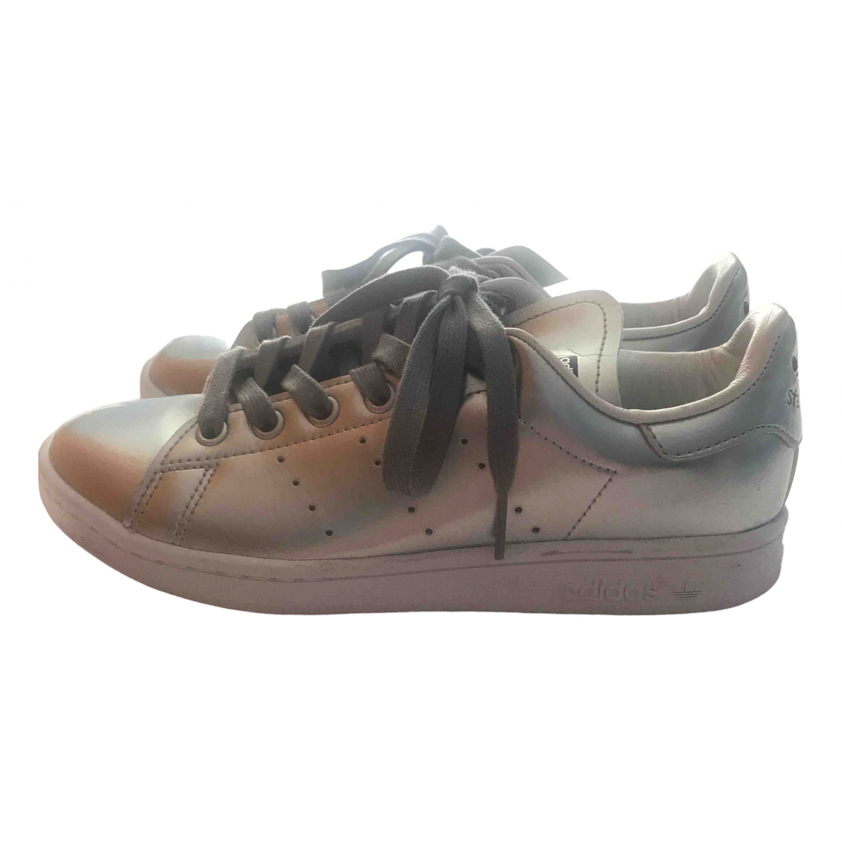 Adidas Stan Smith Silver Leather Trainers for Women 4 UK