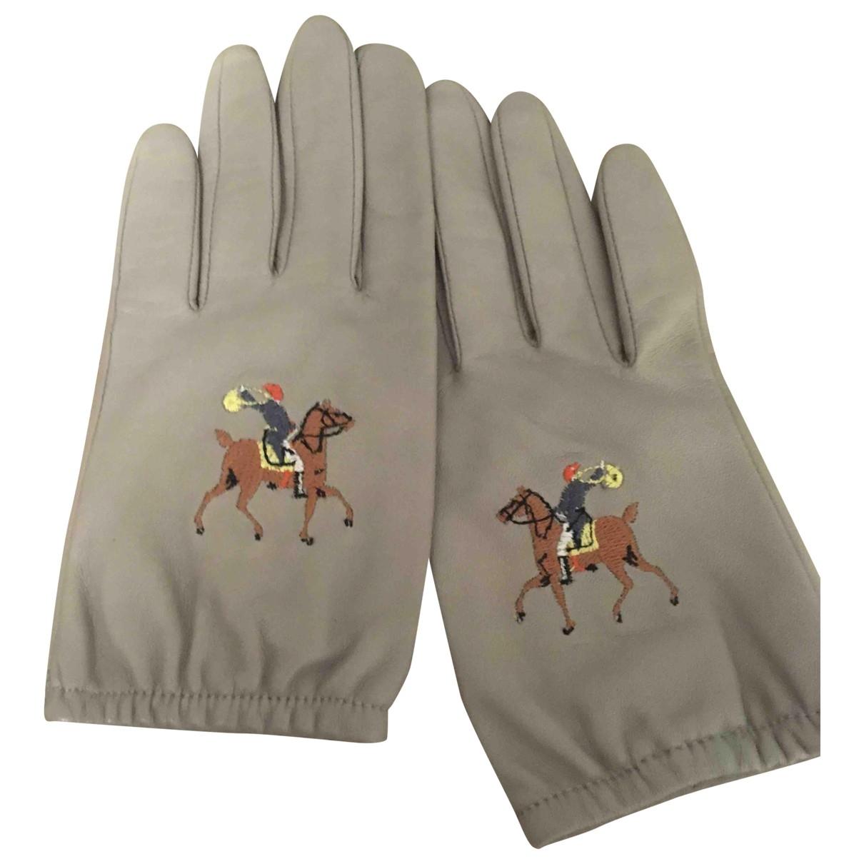Bimba Y Lola \N Handschuhe in  Grau Leder