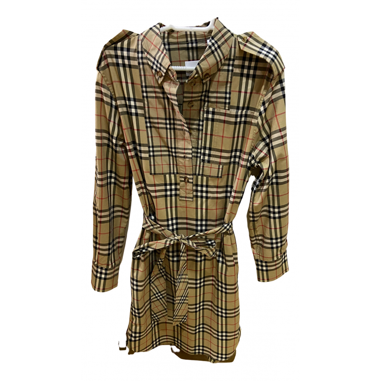 Burberry \N Multicolour Cotton - elasthane dress for Women M International