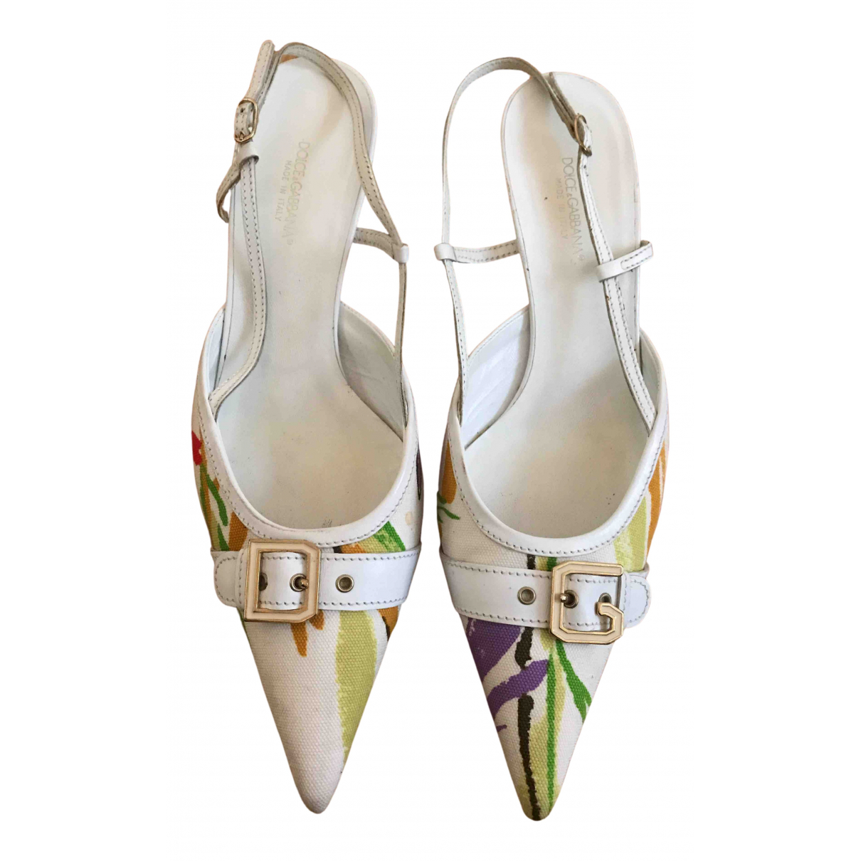 Dolce & Gabbana N White Cloth Heels for Women 40 EU