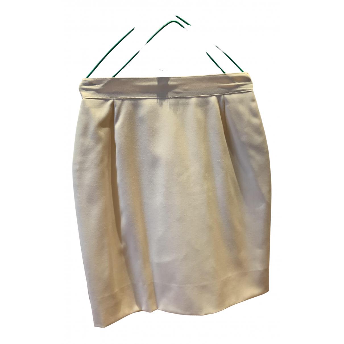 Non Signé / Unsigned \N Ecru Silk skirt for Women 42 IT