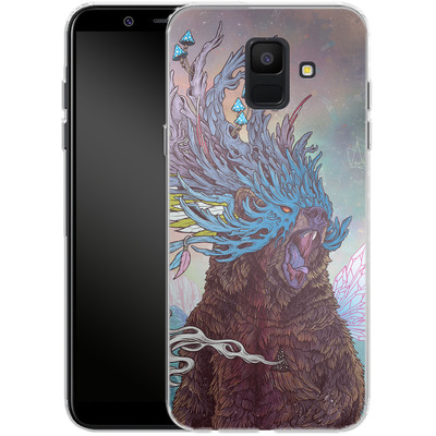 Samsung Galaxy A6 Silikon Handyhuelle - Journeying Spirit - Bear von Mat Miller