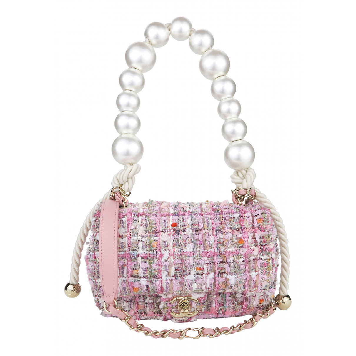 Chanel N Pink Tweed handbag for Women N