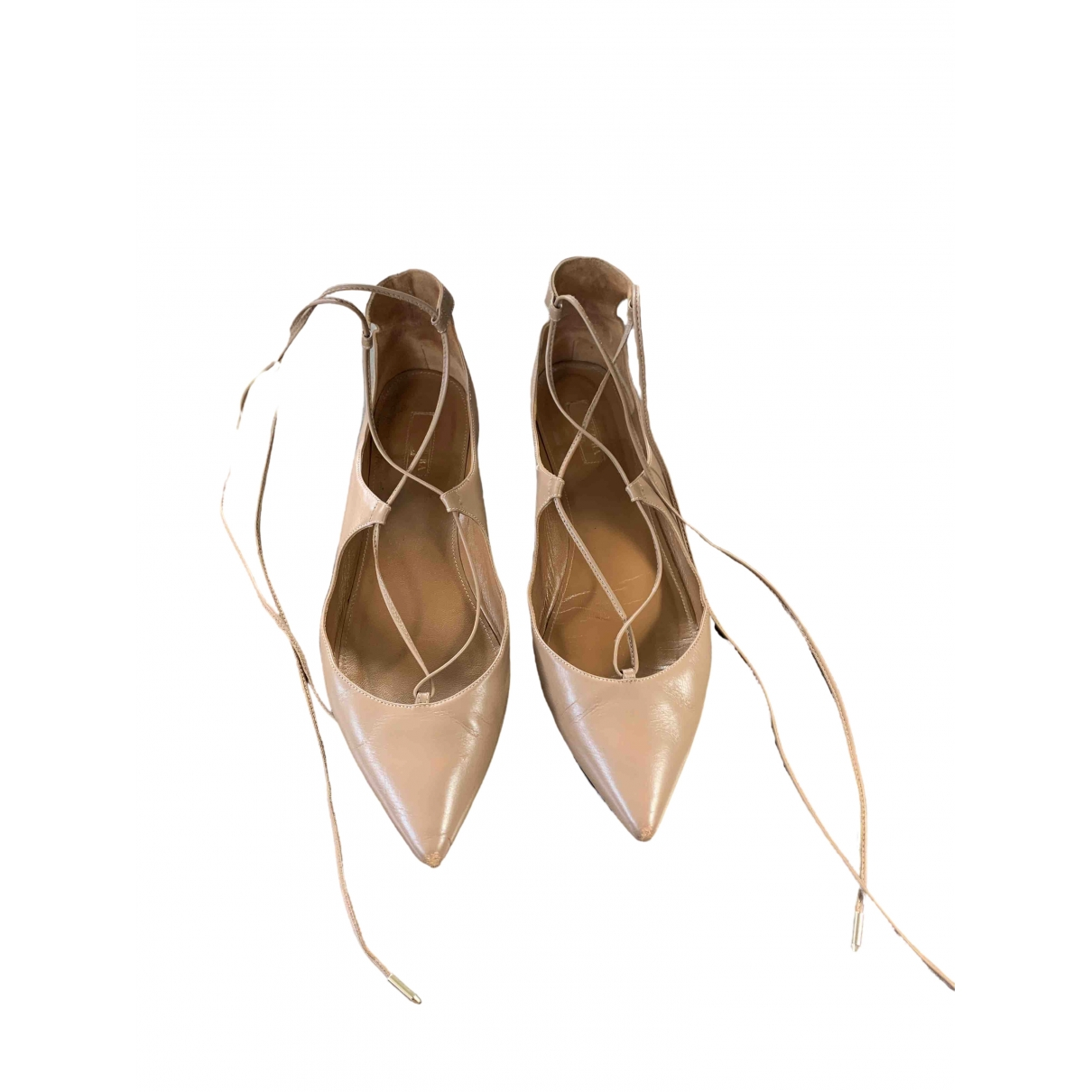Altuzarra \N Ballerinas in  Beige Leder