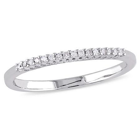 Diamond Accent Genuine White Diamond Sterling Silver Wedding Band, 7 , No Color Family