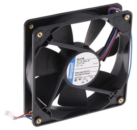 ebm-papst , 12 V dc, DC Axial Fan, 119 x 119 x 25mm, 140m³/h, 3.2W