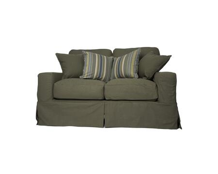 SU-108510SC-410026 Americana Loveseat - Slip Cover Set Only - Forest