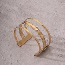 Men Metal Open Bracelet