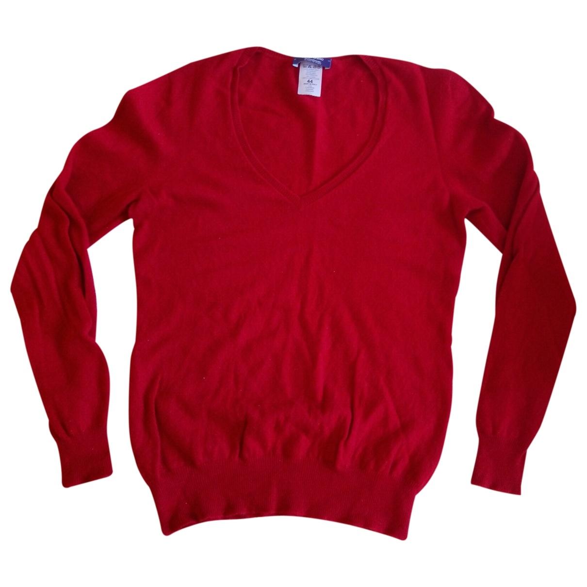 - Pull   pour femme en cachemire - rouge