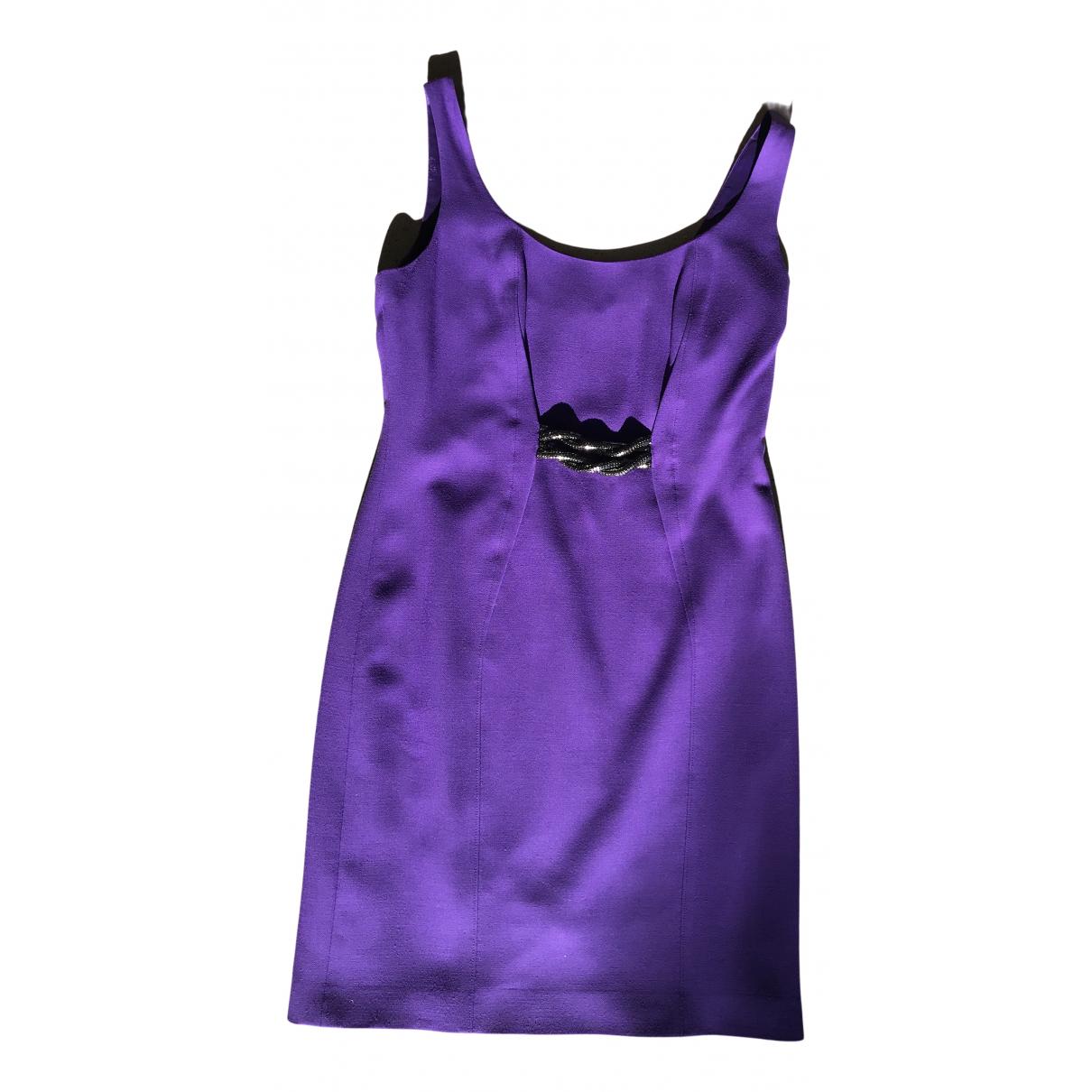 Gianni Versace - Robe   pour femme en laine - violet