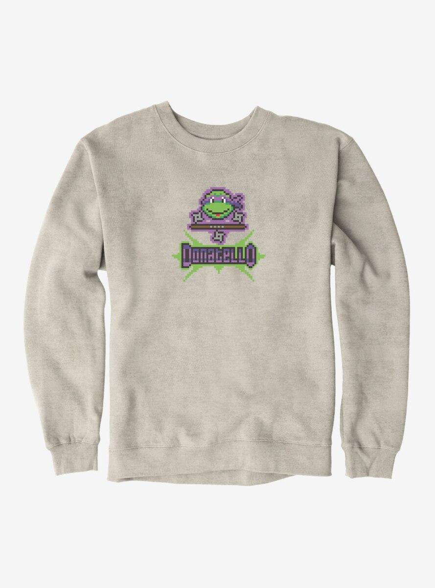 Teenage Mutant Ninja Turtles Donatello Pixelated Face Sweatshirt