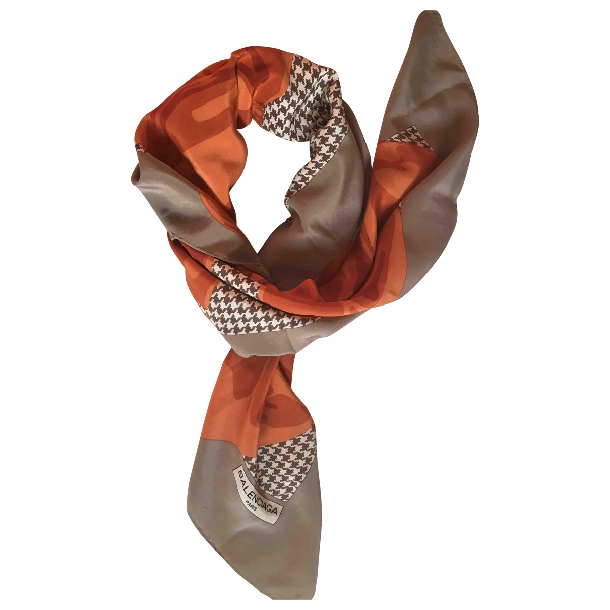 Balenciaga - Foulard   pour femme en soie - orange