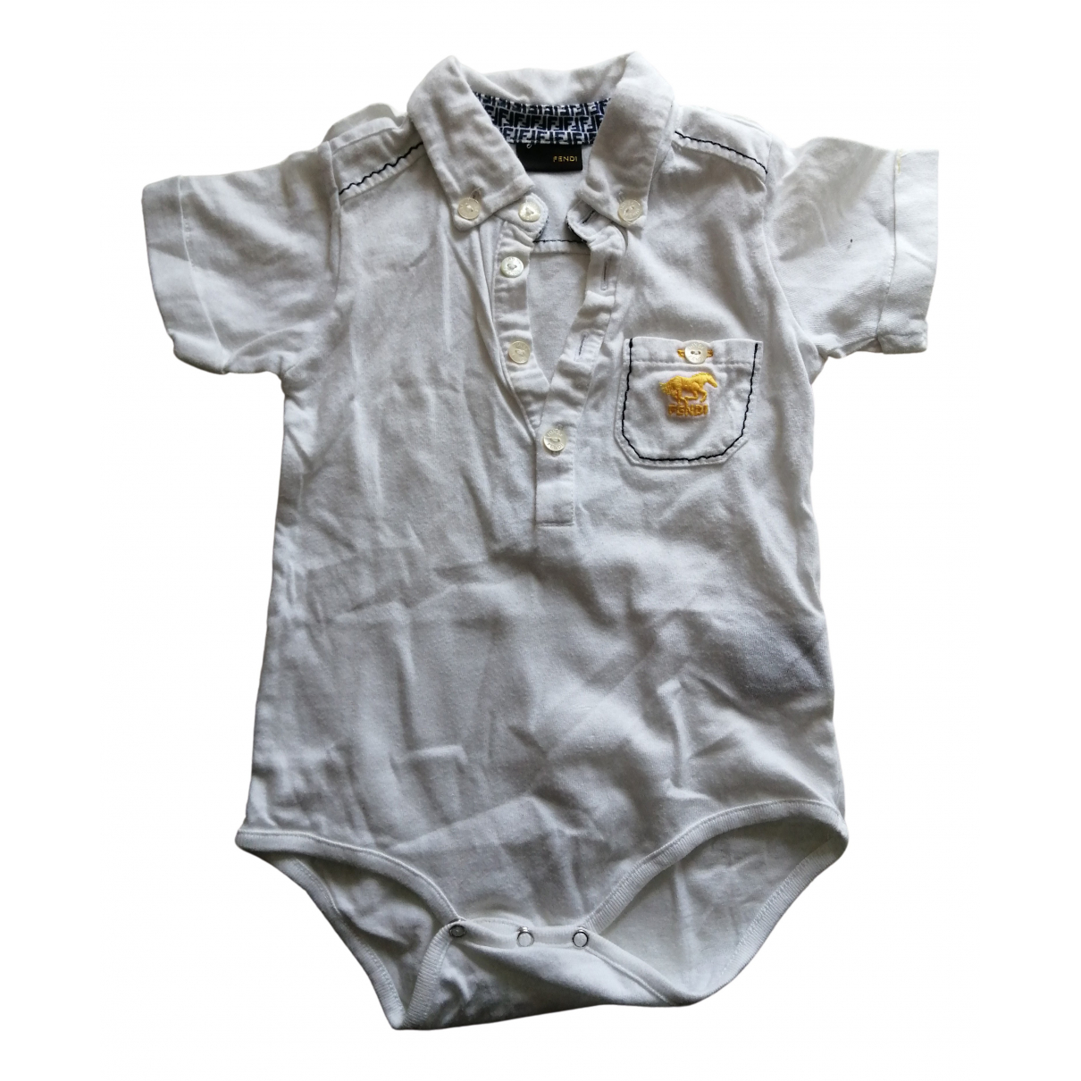 Fendi N White Cotton  top for Kids 12 months - up to 74cm FR