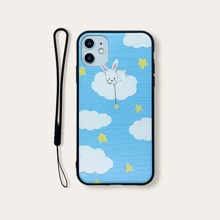Cloud Pattern iPhone Case With Lanyard