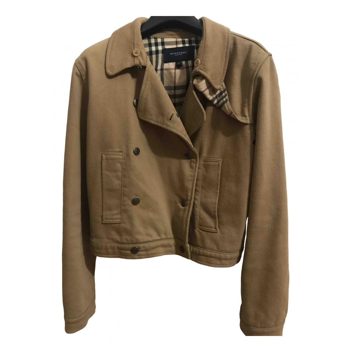 Burberry \N Beige Cotton jacket for Women 44 IT