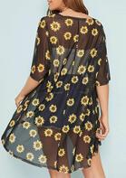 Sunflower Three Quarter Sleeve Cardigan - Black