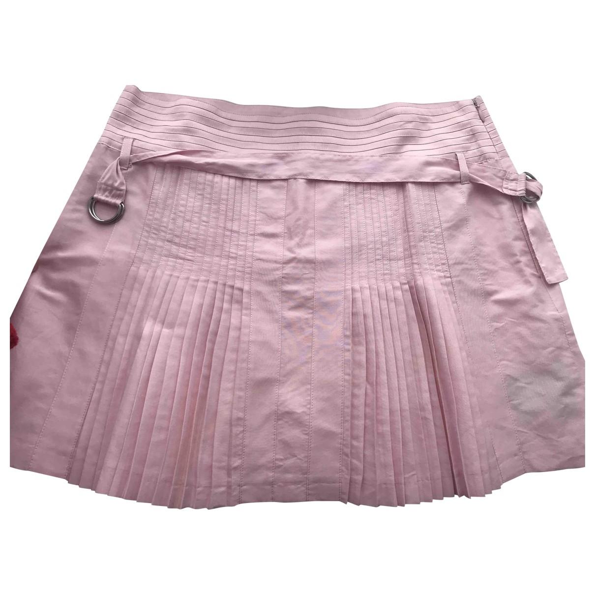 Mini falda de Lino Burberry