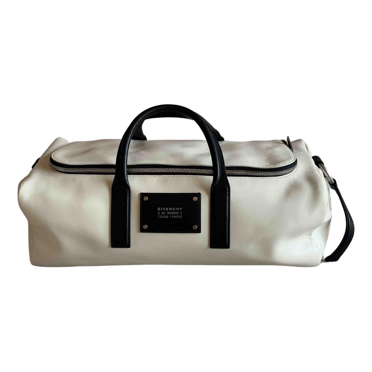 Givenchy - Sac de voyage   pour femme en cuir - blanc