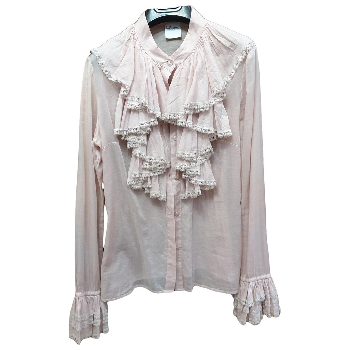 Red Valentino Garavani \N Pink Cotton  top for Women 42 IT