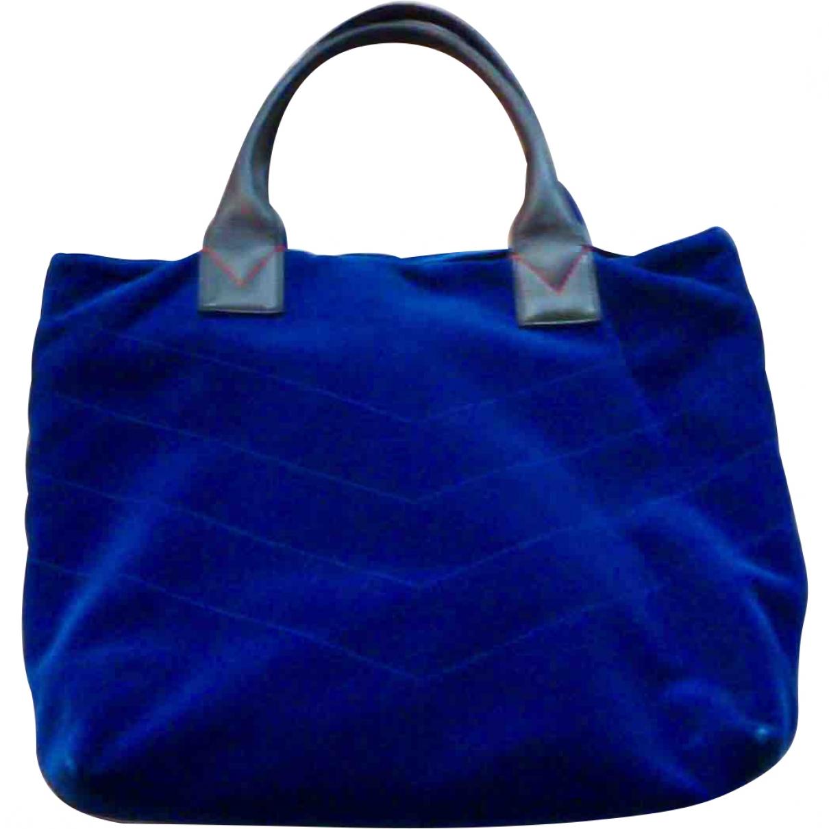 Pinko \N Blue Velvet handbag for Women \N