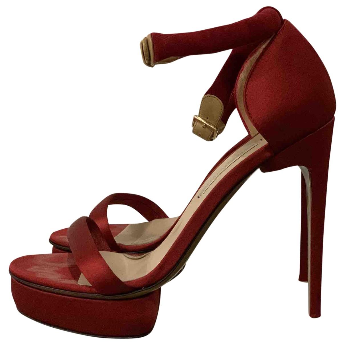 Nicholas Kirkwood - Sandales   pour femme en toile - rouge