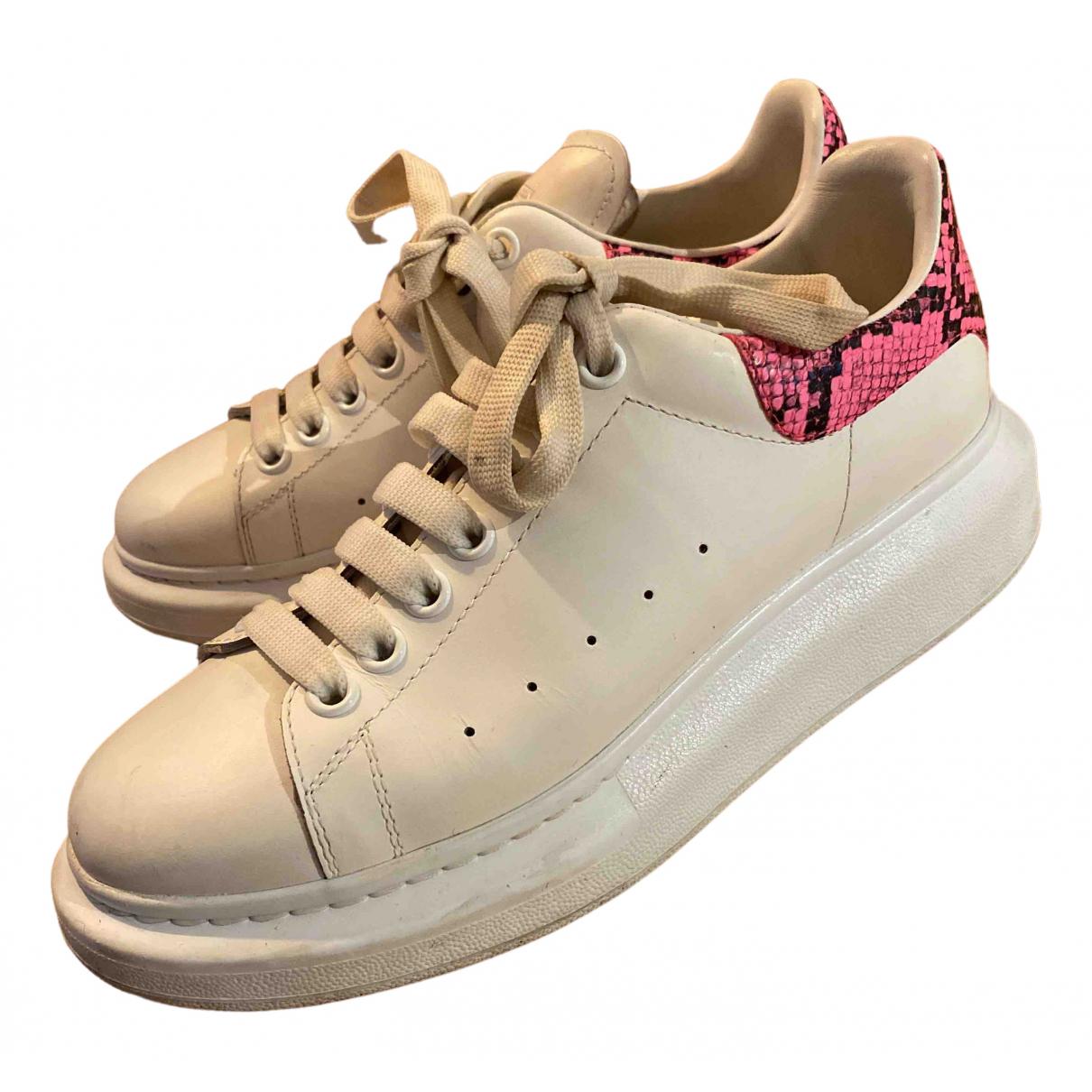 Alexander Mcqueen - Baskets Oversize pour femme en velours - blanc
