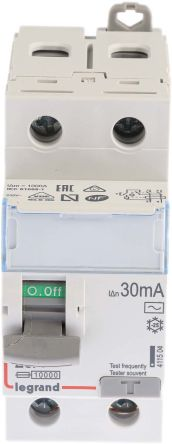 Legrand 1 + N 25 A RCD Switch, Trip Sensitivity 30mA
