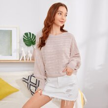 Dolman Sleeve Cable Knit Sweater