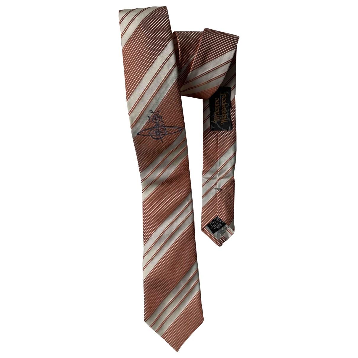 Vivienne Westwood \N Krawatten in  Rosa Seide
