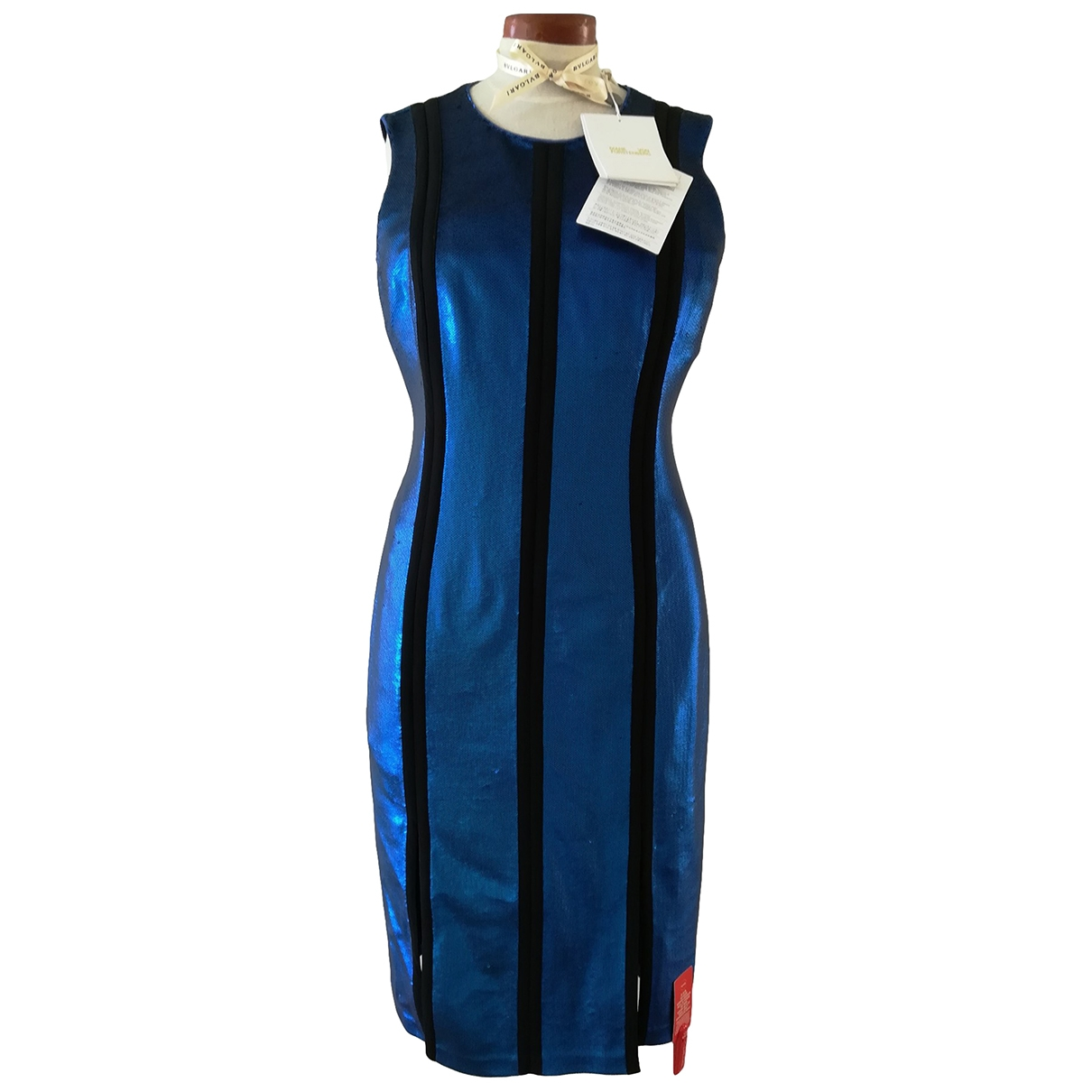 Diane Von Furstenberg \N Blue Glitter dress for Women L International