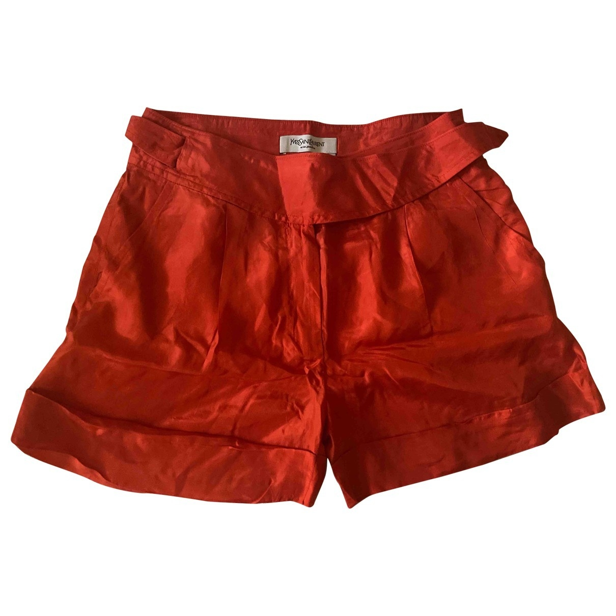 Yves Saint Laurent \N Red Silk Shorts for Women 38 FR
