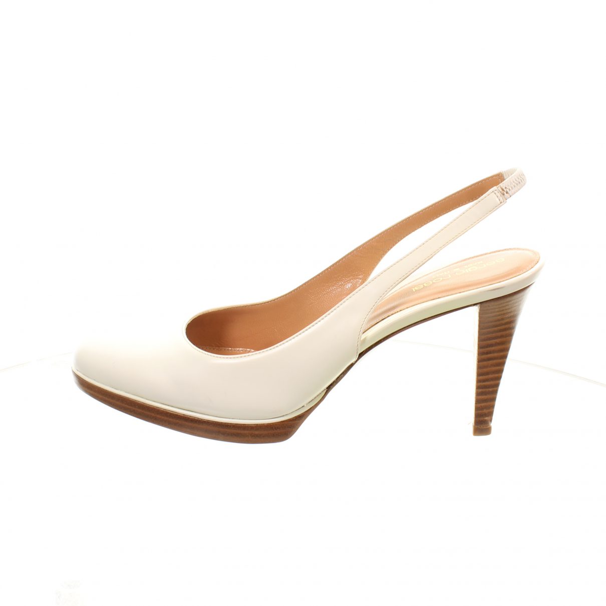 Sergio Rossi \N White Leather Heels for Women 40.5 EU
