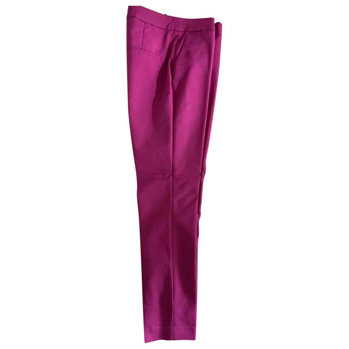 Pantalon en Algodon Rosa Zara