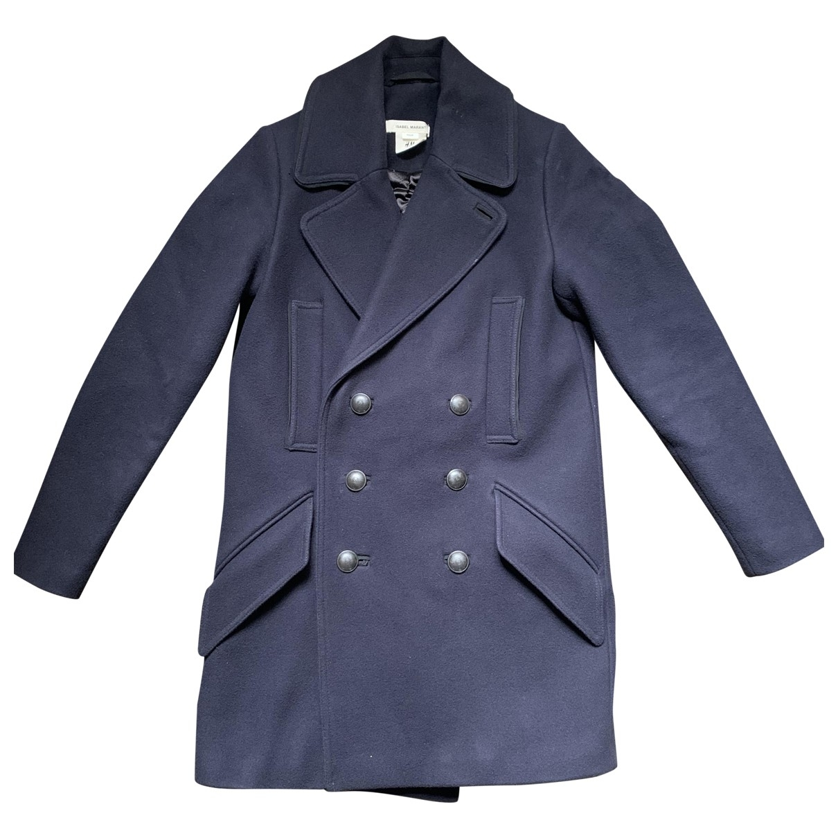 Isabel Marant Pour H&m - Manteau   pour homme en laine - bleu